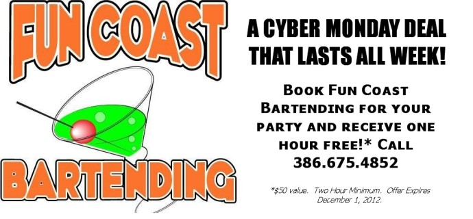 Fun Coast Bartending Cyber Monday