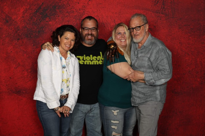Heather Langenkamp and Robert Englund