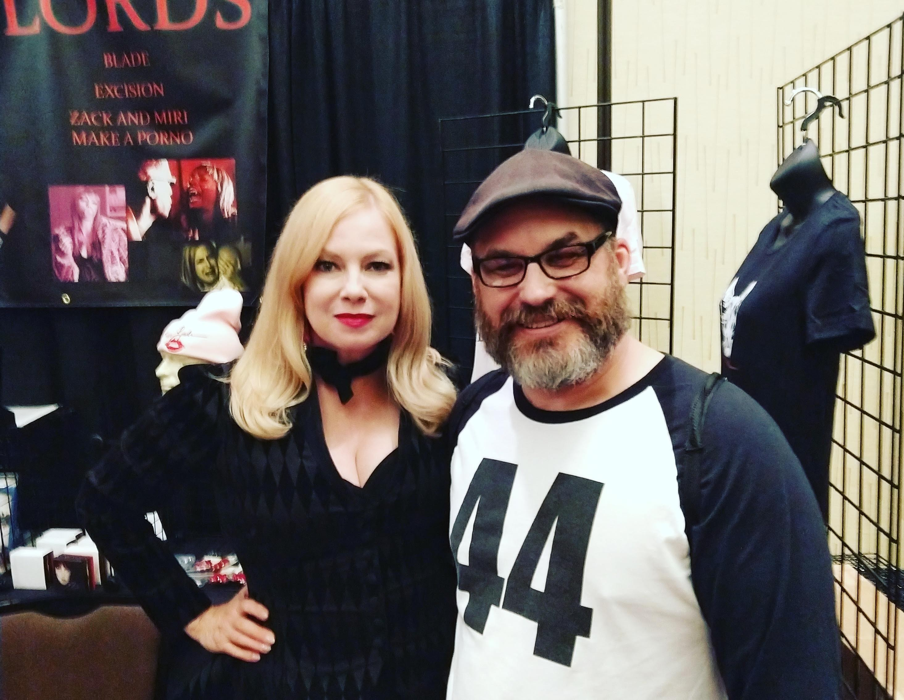 Posing with Traci Lords