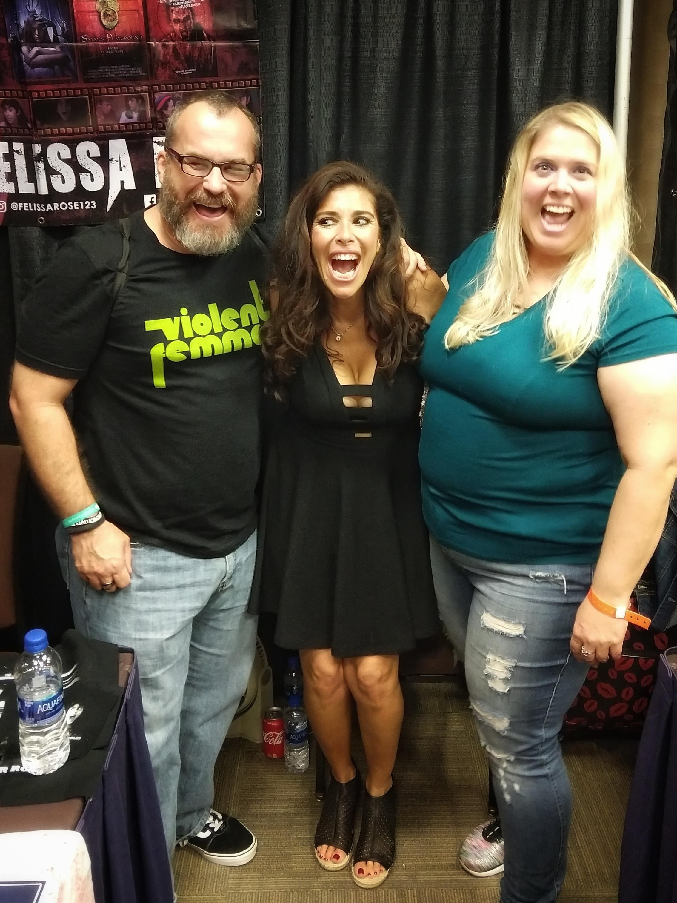 Posing with Felissa Rose